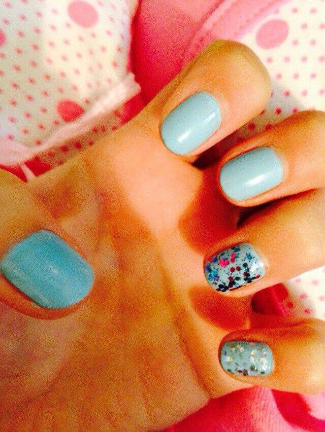Blue+ glitter
