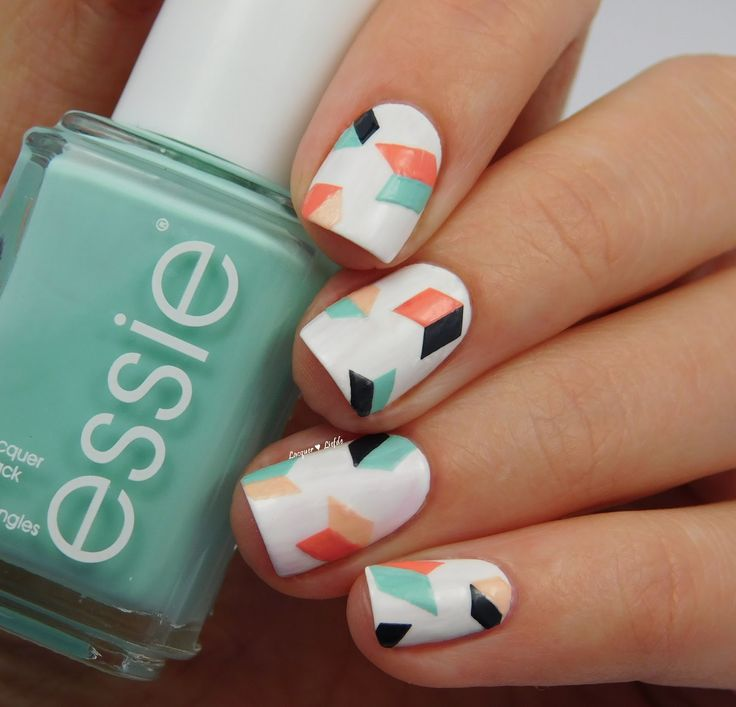 Essie Geometric Nail Art