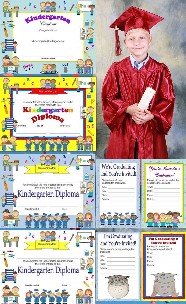 Kindergarten Diplomas, Certificates, Graduation ...