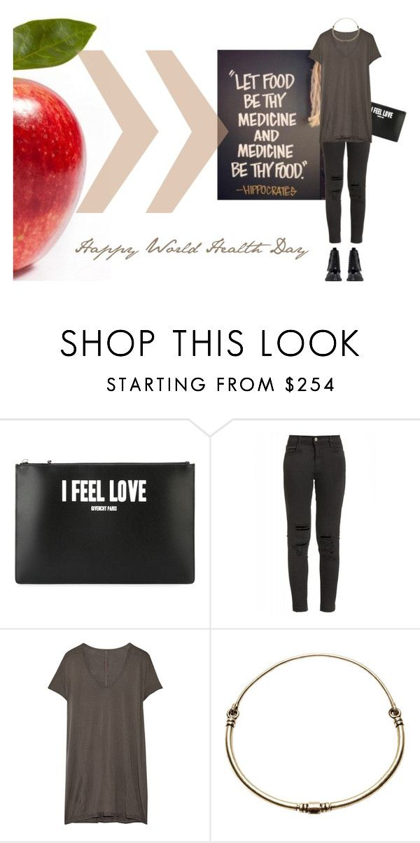 """""""Happy World Health Day!"""" by sharmarie ❤ liked on Polyvore featuring Givenchy, J Brand, Rick Owens, Pamela Love and Acne Studios"""
