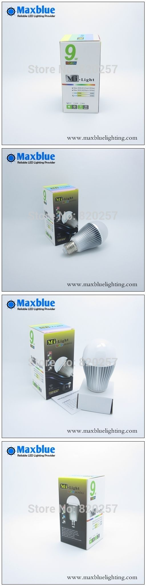 free shipping 9W E27 RGBWW (RGB+warm white) led bulb, can control by iphone ipad android with wifi controller