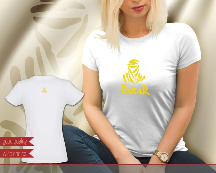 Dakar Rally Motocross Team White with Yellow Women's T-shirt Tee (DK610) #SOLS #PersonalizedTee