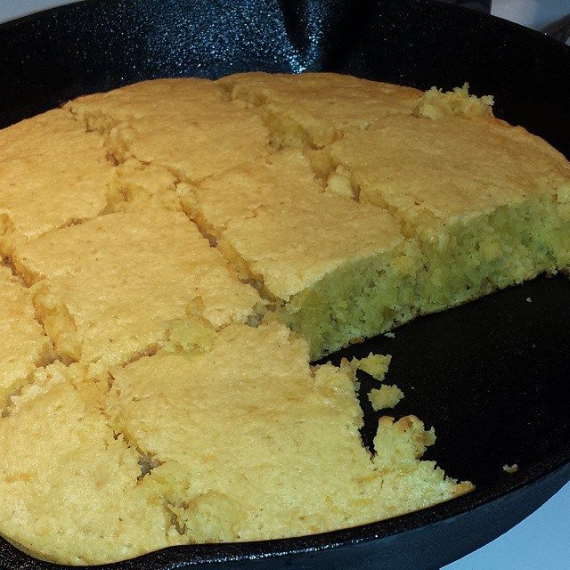 Jiffy cornbread with creamed corn