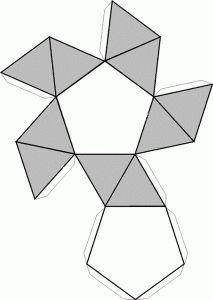 Pentagonal.recortable figuras geometricas bidimensionales