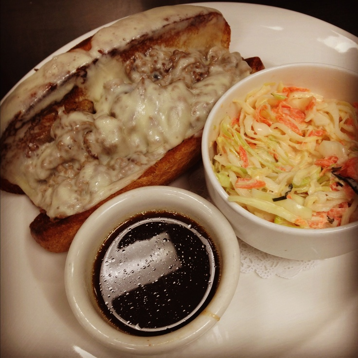 Shaved prime rib french dip on whole wheat hoagie w for Prime fish and hoagie