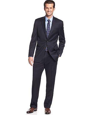 Lauren by Ralph Lauren Suit Separates, Navy Solid Big and Tall - Suits & Suit Separates - Men - Macy's