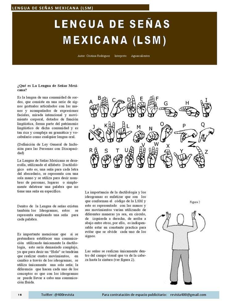 Lengua de Señas Mexicana LSM por Cristina Rodríguez, interprete en la ciudad de Aguascalientes México Revista400 #DesarrolloSustentable #DiscapacidadAuditiva #LenguajedeSeñas from Revista 400 Abril 2015