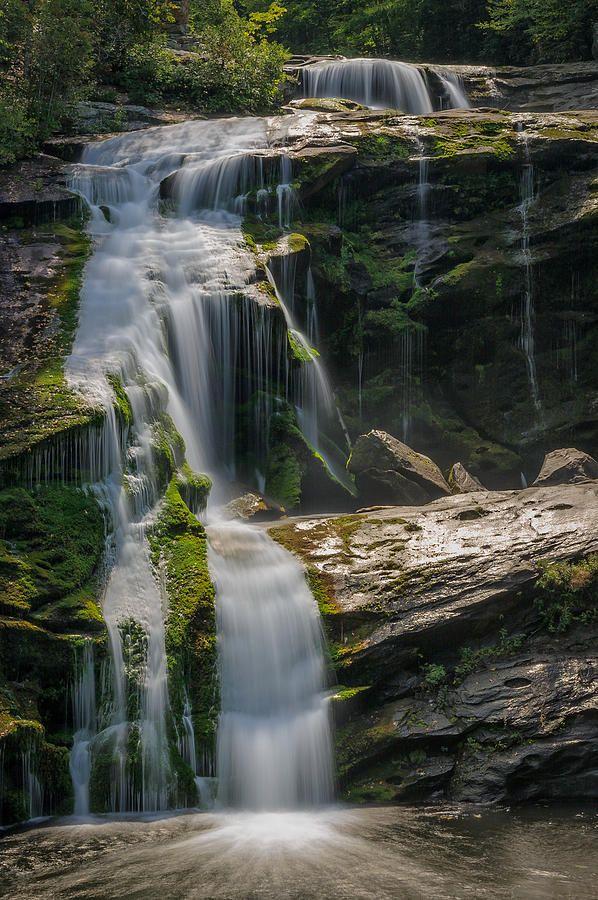 mountains waterfalls forest usa - photo #10