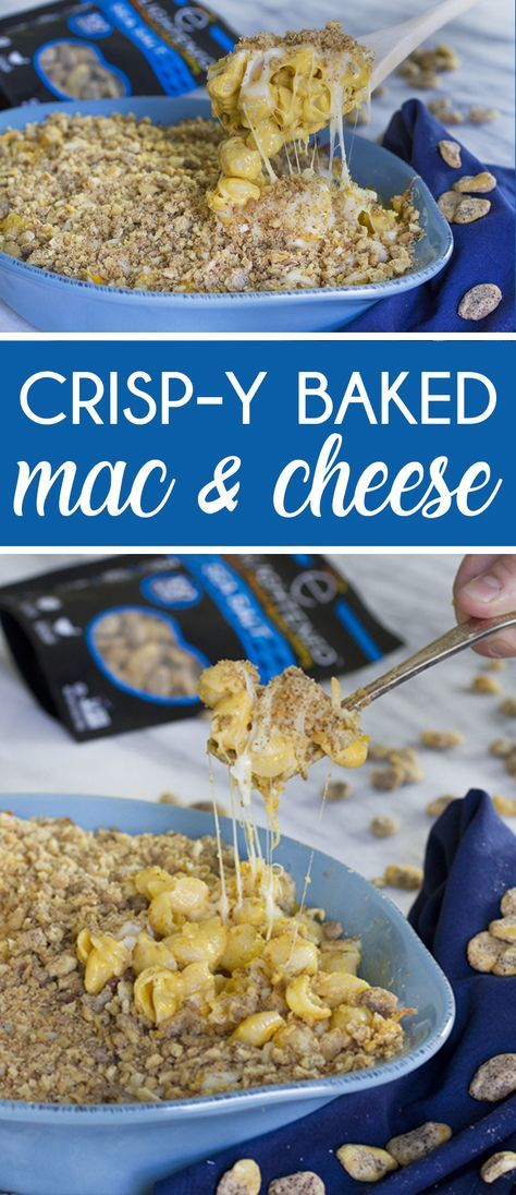 Crisp-y Mac & Cheese made with Broad Bean Crisps!