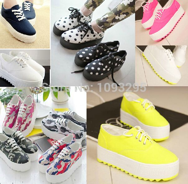 Cheap shoes sexy, Buy Quality shoe silicon directly from China shoe Suppliers:  18 colors 35-39 size New 2014 Low platform canvas shoes casual women sneakers lace up female shoes flat heel women shoe