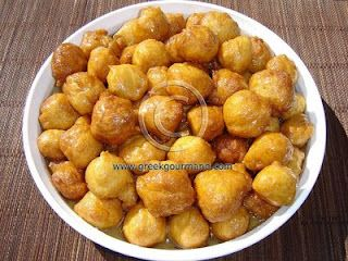 Loukoumades, the Ancient Olympic Treat.  These are amazing.  Even better than the ones at Greek Festivals.