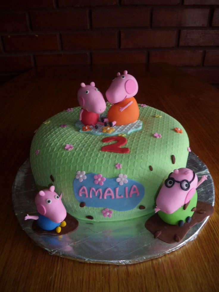 #PeppaPig #FamilyPig #PeppaCerdita #cake by Volovan @VolovanProducto