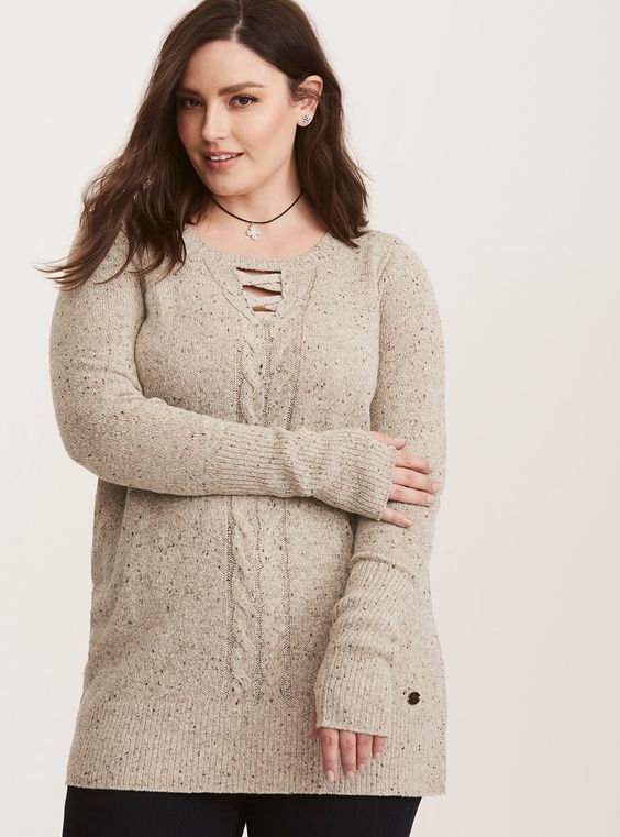 Outlander Cable Knit Tunic Sweater
