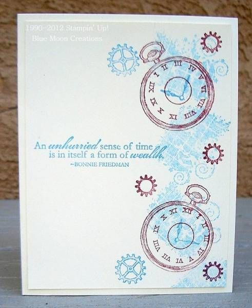 CAS174 Clockworks by Bluemoon - Cards and Paper Crafts at Splitcoaststampers