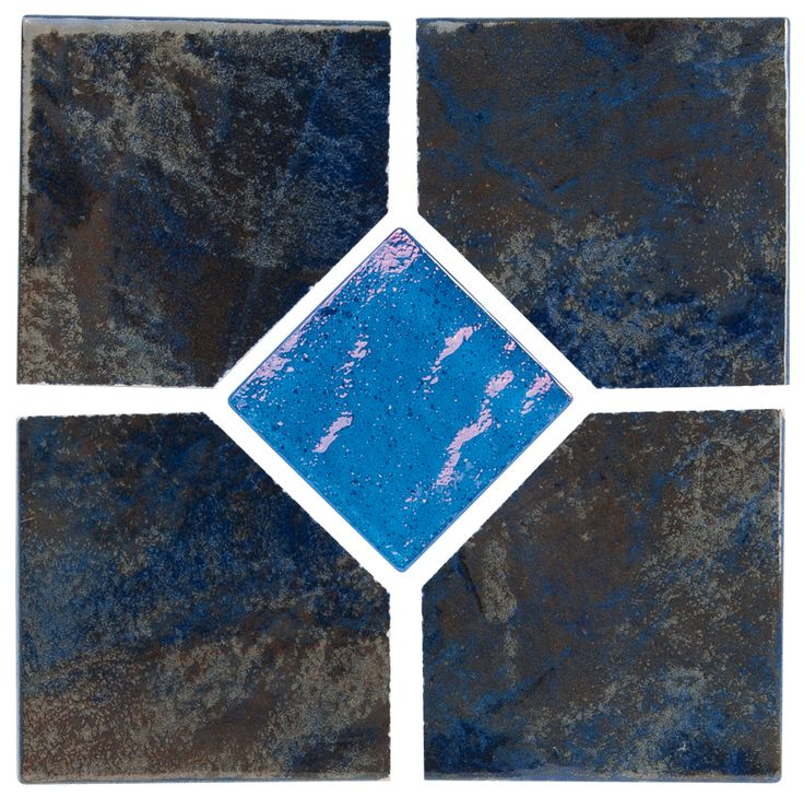 """Coral - Blue Deco Coral series tile from NPT. A bolder earthy tile with moderate variance. Multiple color choices in 2""""x2"""" and 6""""x6"""" with optional accent tiles."""