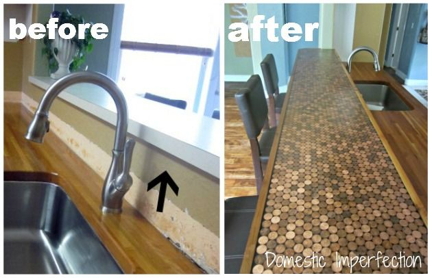 penny countertop before and after