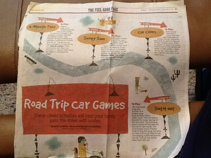 Pin by Mary Trahern on Are we there yet? (Car games