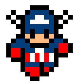 Captain America pixel art templates   Minecraft Pixel Art Building ...