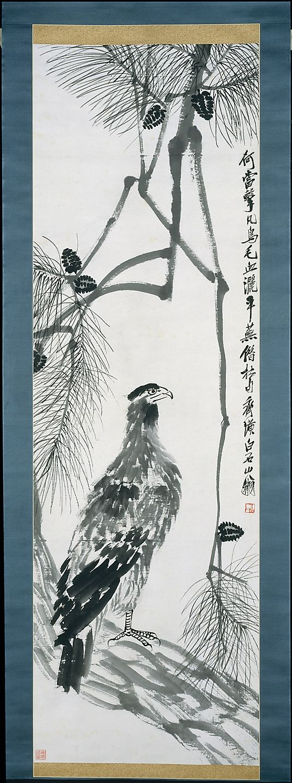 Eagle on a Pine Tree Qi Baishi  (Chinese, 1864–1957)