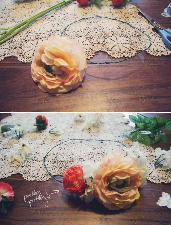 floral crown diy.  :)