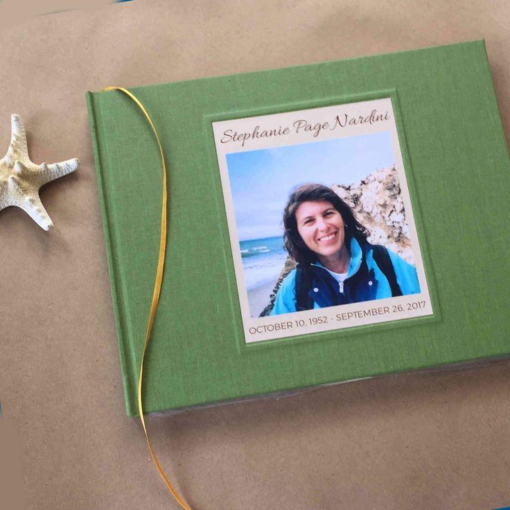 Custom memorial service guest book celebration of life