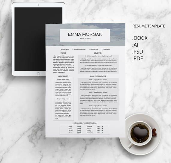 Best Cv Template Resume Template Letterhead Images On
