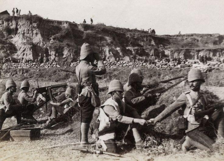 British; King's Own Scottish Borderers at Arhanga Pass. Tirah Campaign 1897