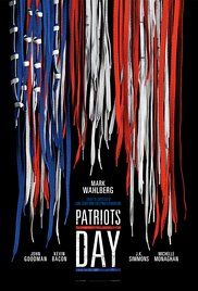 Patriots Day Poster year 2016. Mark Wahlberg played Sgt. Tommy Saunders.