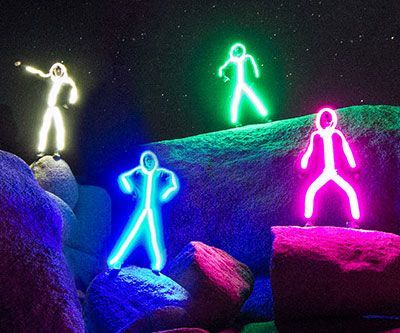 Light up the night by tripping out everyone around you wearing these LED stick figure costumes. Once you slip into these bad boys you'll be transformed into a bright neon stick figure that can be seen from up to a mile away.