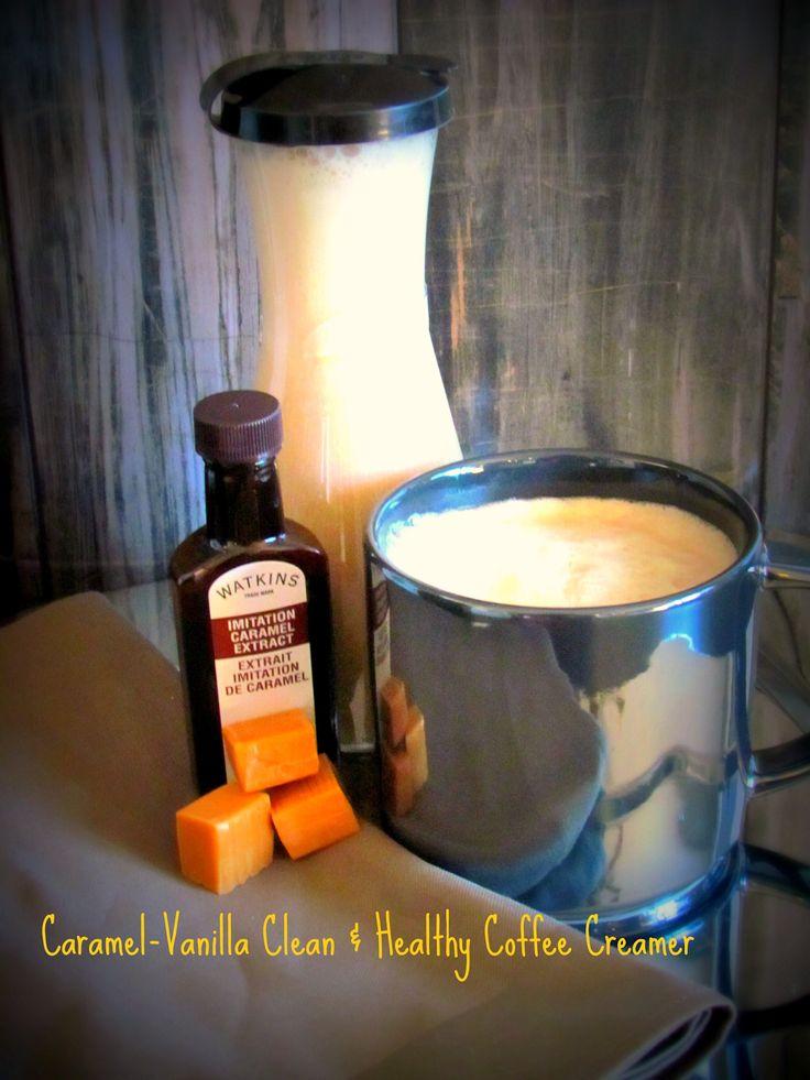 Caramel-Vanilla Clean & Healthy Coffee Creamer Recipe