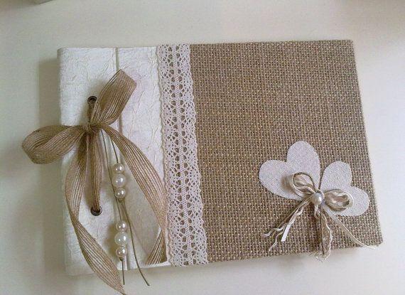 Arpillera y seda libro de visitas - arpillera, seda y encaje - libro rústica…