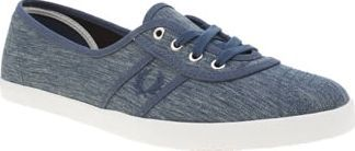 Fred Perry Navy Aubrey Womens Trainers Ladies, get your hands on the Fred Perry Aubrey as it arrives to keep up with your go-to lifestyle. This practical plimsoll features a denim-inspired fabric upper in navy, tonal Laurel Wreath branding http://www.comparestoreprices.co.uk/january-2017-8/fred-perry-navy-aubrey-womens-trainers.asp