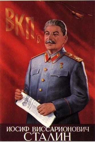 Stalin is holding PRAVDA (The Truth)