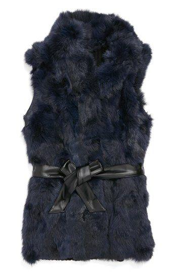 La Fiorentina Genuine Rabbit Fur Vest | Nordstrom