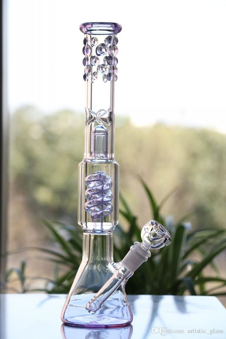 Beaker Bongs New Design Glass Water Pipe Radiant Purple Glass Bong Manufacture Glass Water Bong Thickness Beaded Around Cool Look Oil Rig From Artistic_glass, $55.5   Dhgate.Com