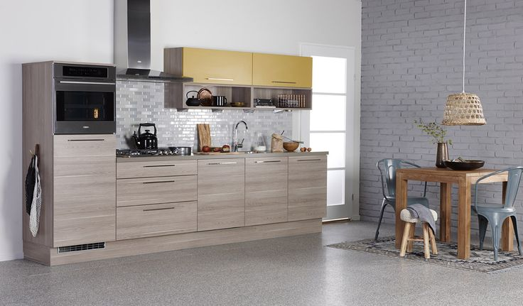 Keukenmuur Ideeen : Bruynzeel atlas keuken in de kleuren verona eiken ...