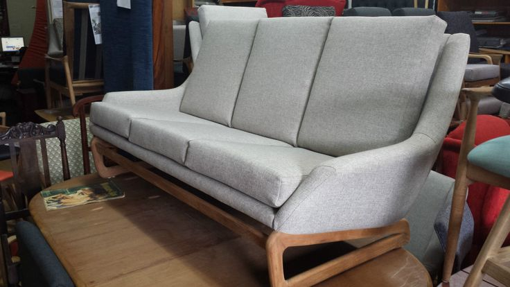 Retro MID Century Danish Deluxe 3 Seater Couch Recovered in Mentone, VIC | eBay