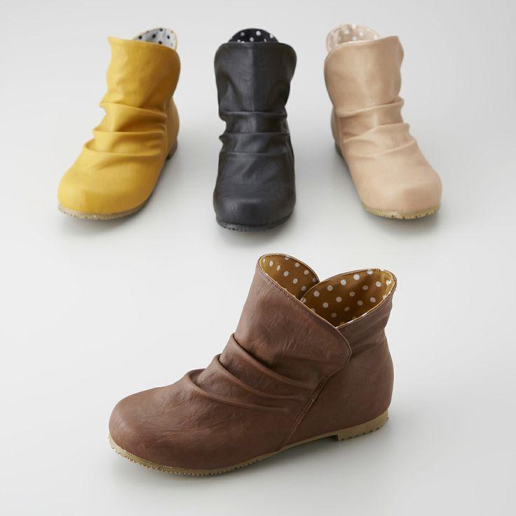 レインに見えないレインシューズ 通販 【ニッセン】 婦人靴・靴(シューズ) ブーツ ショートブーツ