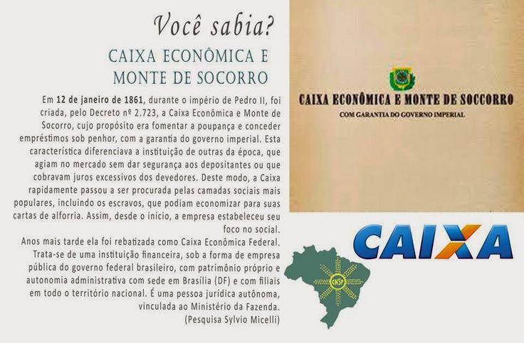 #CNSPNotícias - Você sabia? - 12 de janeiro de 2015 - Caixa Econômica e Monte de Socorro ~ Jornalista Sylvio Micelli