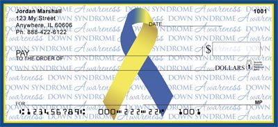 Down Syndrome Writing Awareness Ribbon from Checks-SuperStore.com....how cool is this:)
