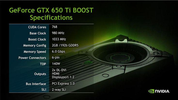 Lancement de la carte graphique GeForce GTX 650 Ti BOOST #nvidia