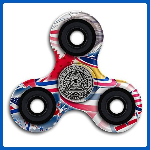 Illuminati Secret Society Pyramid Eye Tri Fidget Hand Spinner Finger Toy - Fidget spinner (*Amazon Partner-Link)
