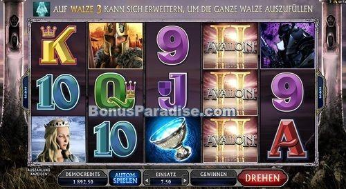 Avalon II - Online Glücksspielautomat von Microgaming