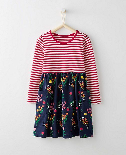 Girls Mixie Playdress from #HannaAndersson.