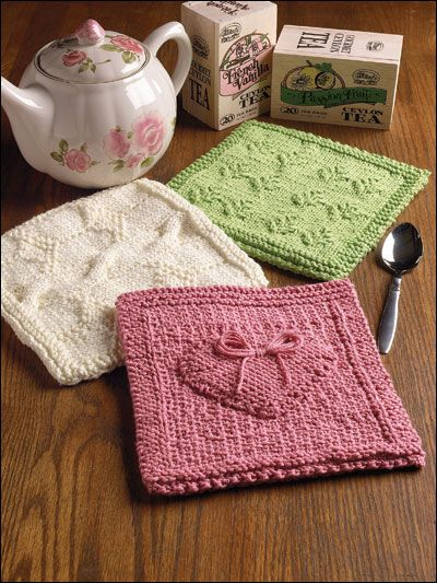 ..not a knitter -- but I know some .. :D: Bit, Knitting Patterns, Dishcloth, Raised Heart, Patterns Potholders, Potholders Pattern, Crochet Patterns, Falling Leaves, Scotland Potholders
