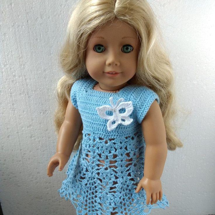 Crochet dress for 18 inch American Girl dolls