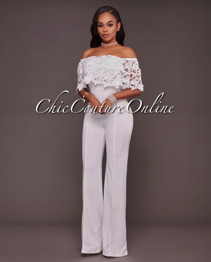 Chic Couture Online - Donovan Off-White Lace Top Strapless Jumpsuit, (http://www.chiccoutureonline.com/donovan-off-white-lace-top-strapless-jumpsuit/)