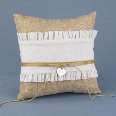 The Thank You Company - Rustic Romance Ring Pillow, $34.00 (http://www.thankyou.on.ca/rustic-romance-ring-pillow/)