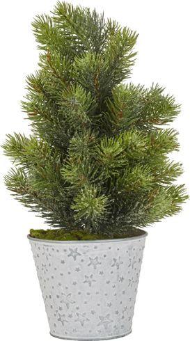Kunstpflanze aus Kunststoff in der Farbe Grün.