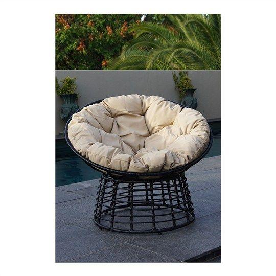Coco Rattan Chair with Cushion - Latte
